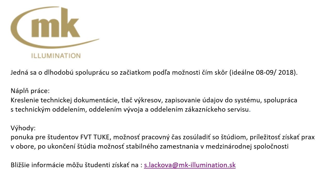 Ponuka pre študentov FVT - brigáda popri štúdiu.